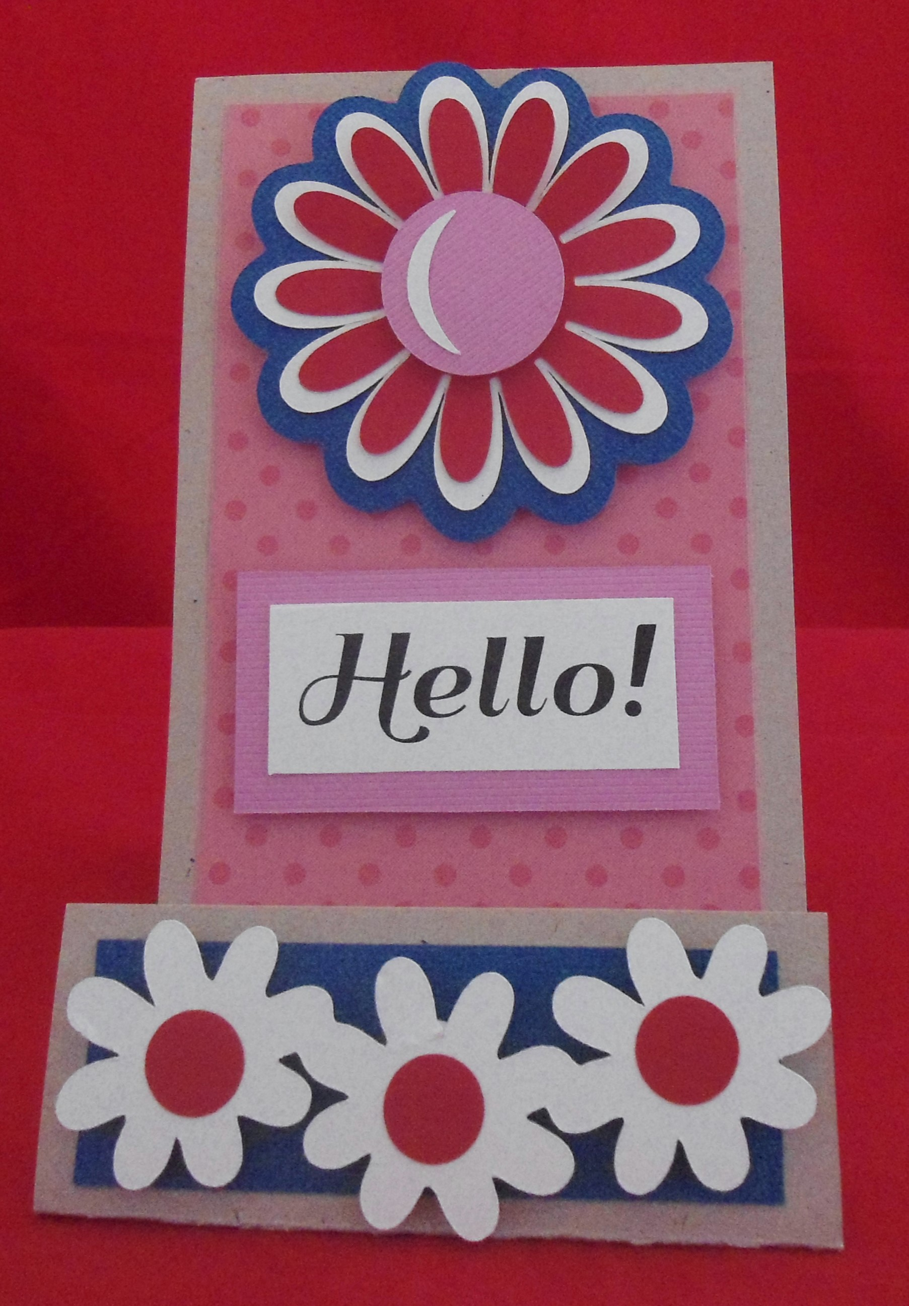 Bright & Bold Daisy Hello - Red