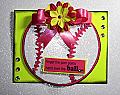 Handmade Paper Pieced Softball Card - Hand Over the Ball