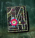 14 Teen Girl Birthday Card - 14th Birthday Bright Colors