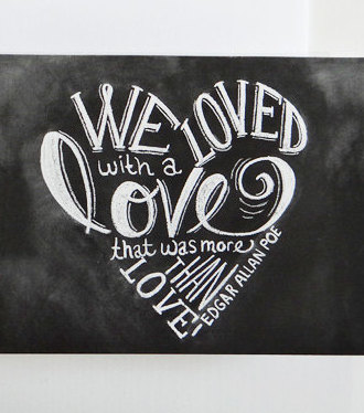 Edgar Allan Poe Love Quotes Classy Writtencards Greeting Cards