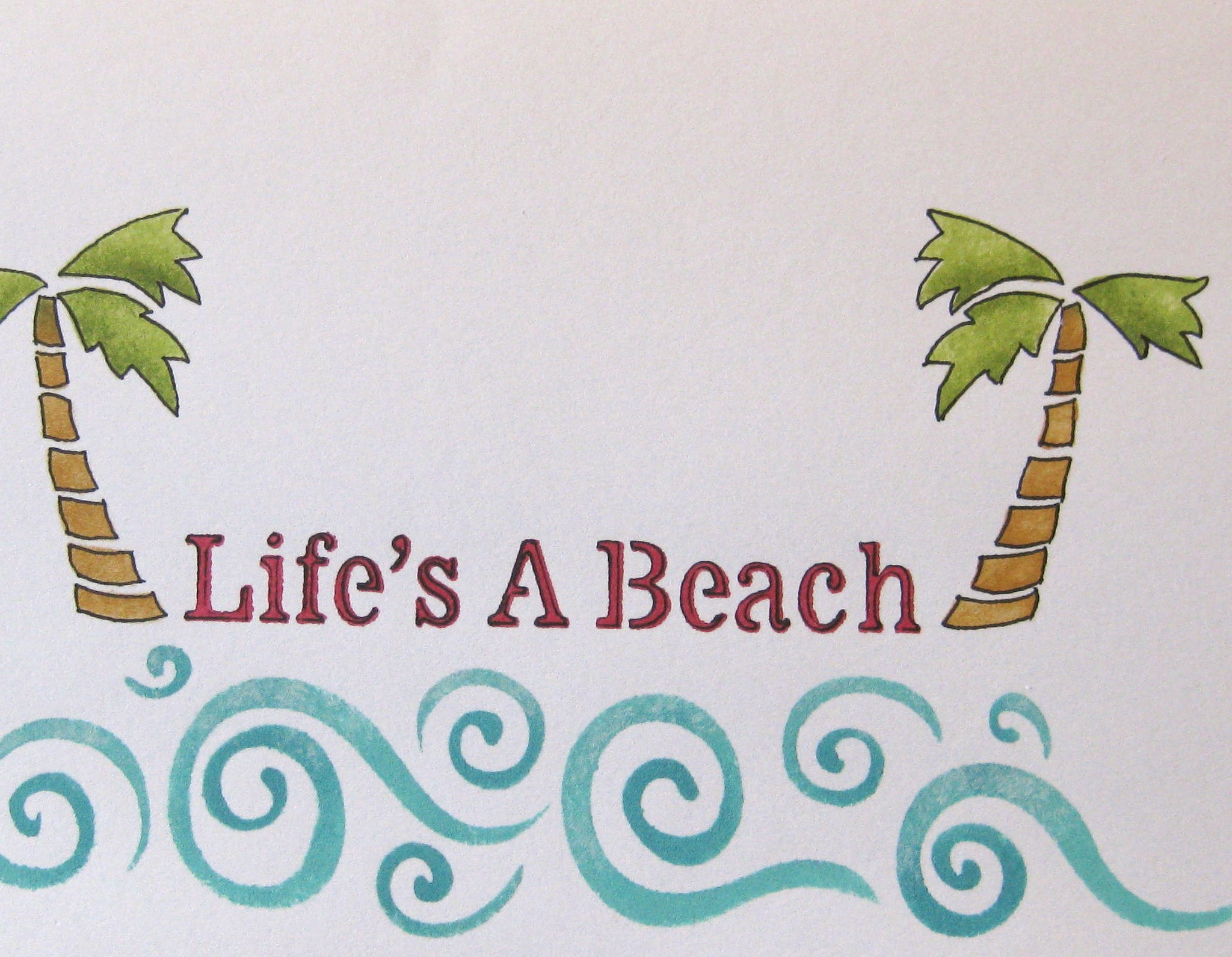 Writtencards greeting cards lifes a beach kristyandbryce Gallery